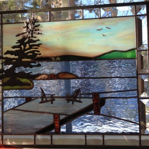 Stained Glass Muskoka Chairs