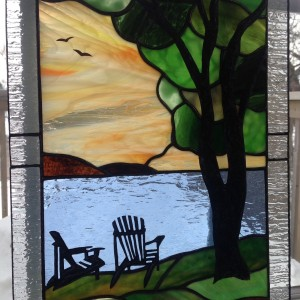 Stained Glass Muskoka Tree