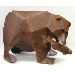 Rustic Steel Bear