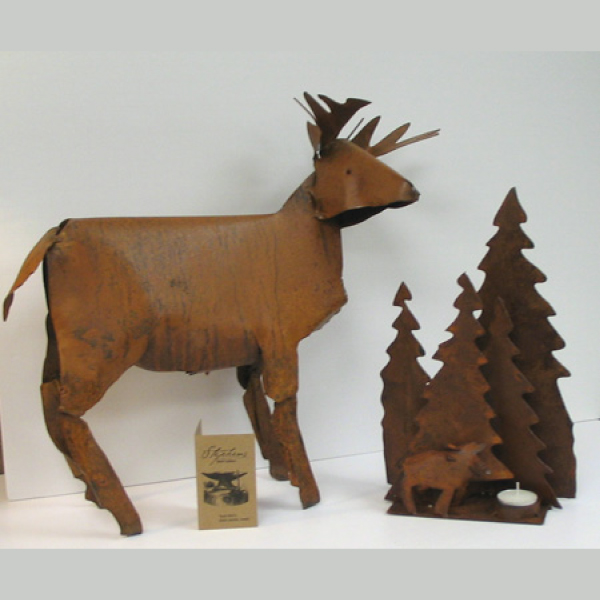 Rustic Steel Deer