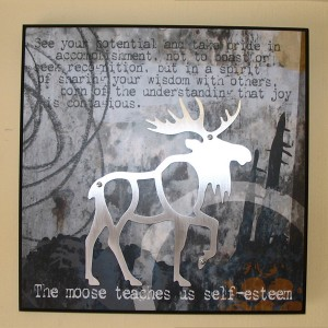 Moose Plaque