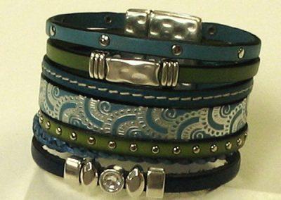 Leather Bracelet – Blue