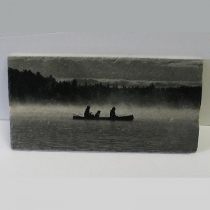 Art on Stone - Marble Canoe in Mist
