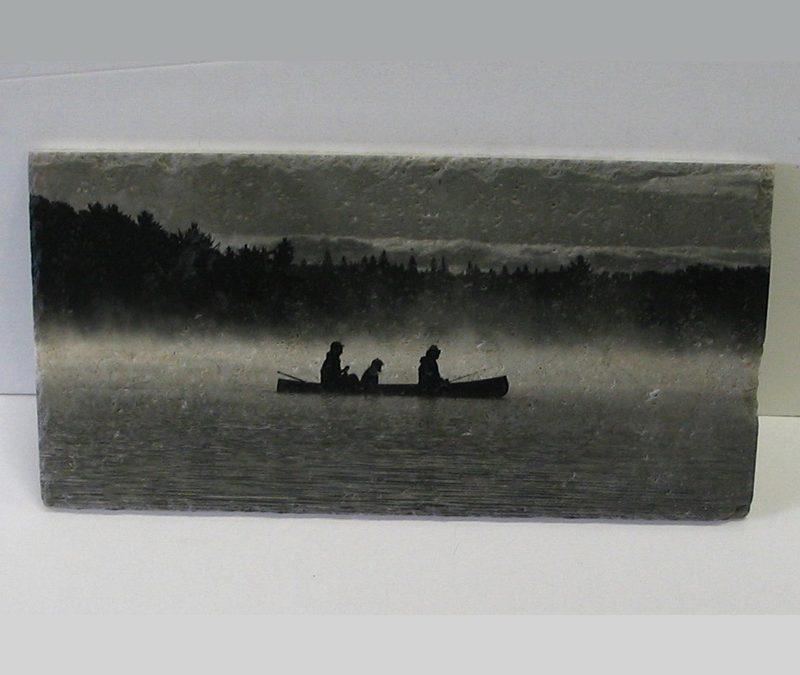 Art on Stone – Marble Canoe in Mist