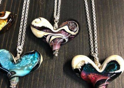 Worn Beadies – Assortment, Heart Shaped Pendants